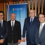 Vice Cônsul Andrea Gianvenuti, Dr. Mastrangelo, Cônsul Geral Riccardo Battisti e Giorgio Rossi
