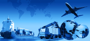 Photo montage of freight/transport business activities, complex.