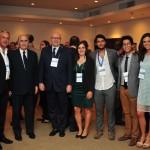 O staff da Câmara Ítalo-Brasileira com o Consul Geral da Itália, o Presidente da FCCE o Presidente da Câmara